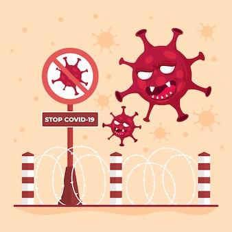 Прекратите распространение вируса, закрыв границы