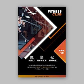 Спортивный дизайн плаката фитнес клуб