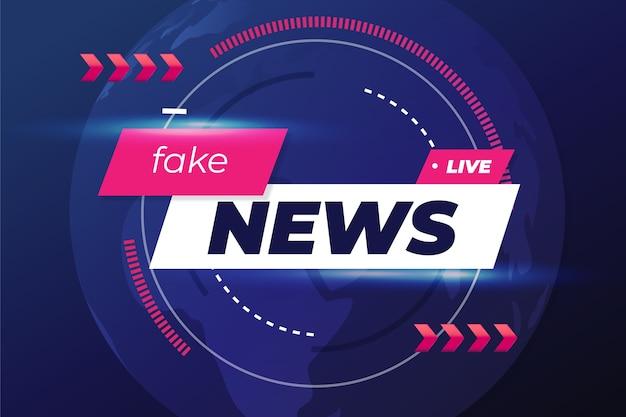 Поддельные новости дизайн фона