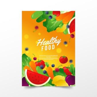 Шаблон флаера здоровых органических продуктов питания