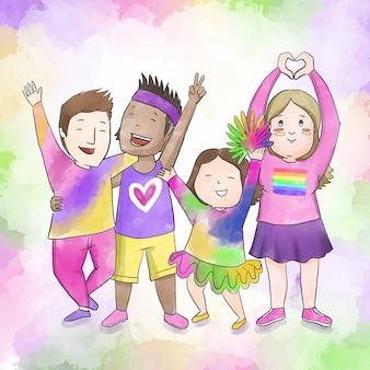 Празднование дня гордости для пар и семей