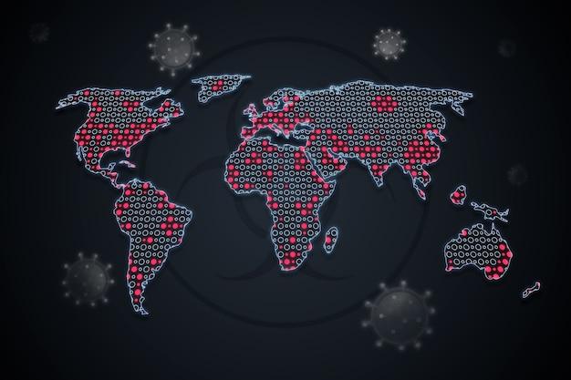 コロナウイルス地図のコンセプト