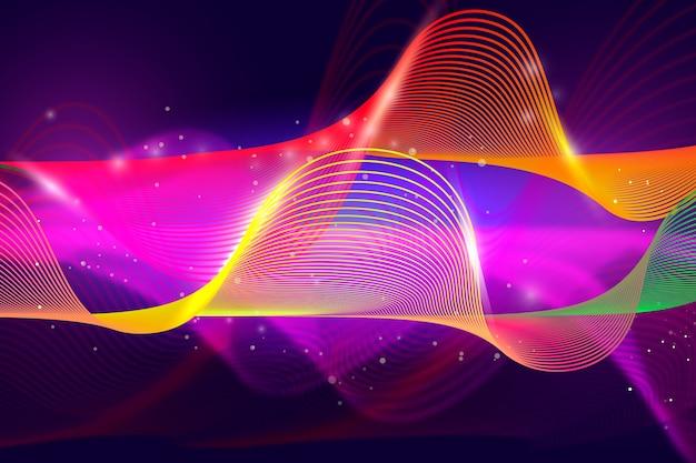 カラフルな波状の形状と抽象的な背景