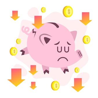 Ручной обращается дизайн концепция банкротства