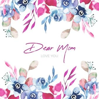 母の日イベント花柄