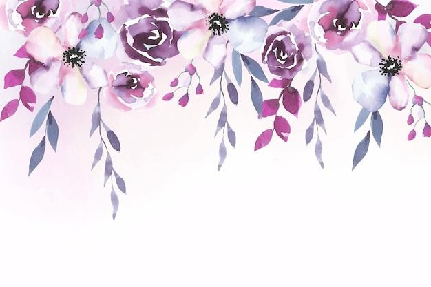水彩画の花の背景デザイン