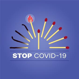 一致の概念停止コロナウイルス