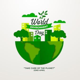 Плоский день мира окружающей среды