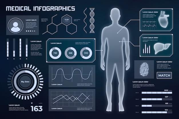 Медицинский инфографический дизайн