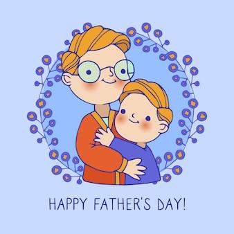 手描きの父の日のコンセプト