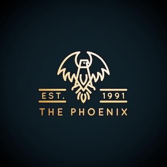Стиль шаблона логотипа феникс