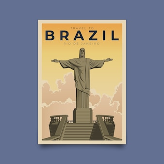 Туристический плакат, иллюстрированный стиль