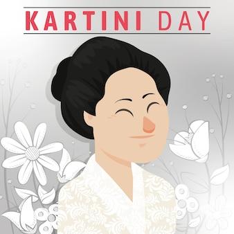解放のカルティニの日ヒーローの女性