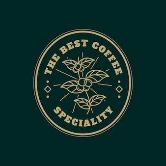 Шаблон логотипа для кофейного бизнеса