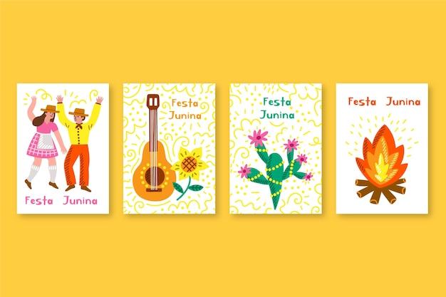 カードコレクションのフェスタジュニーナテンプレート