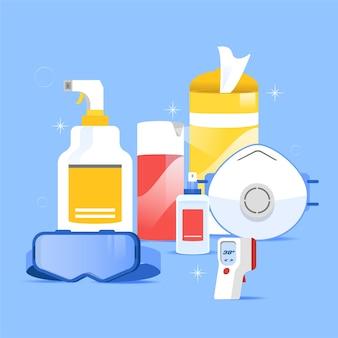 Коллекция защиты от вирусного оборудования