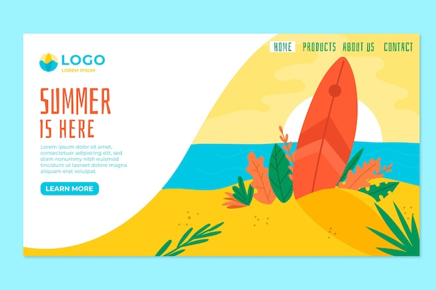 夏のランディングページのコンセプト