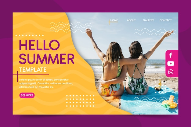 夏のランディングページインターフェイス