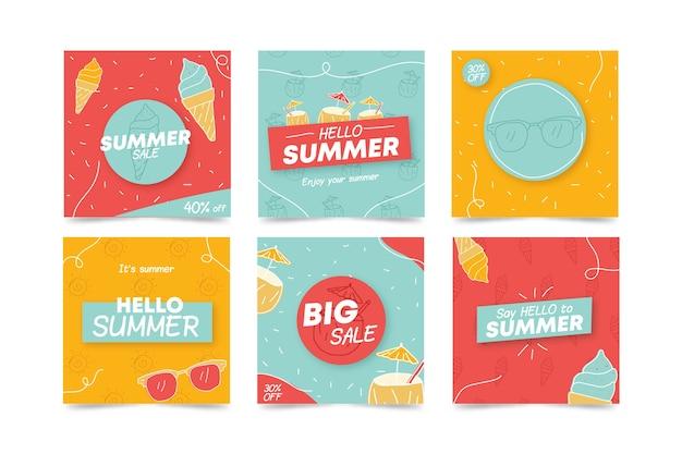 Привет летняя распродажа инстаграм пост коллекция