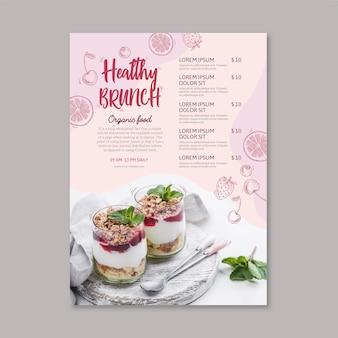 健康食品レストランメニューテンプレート