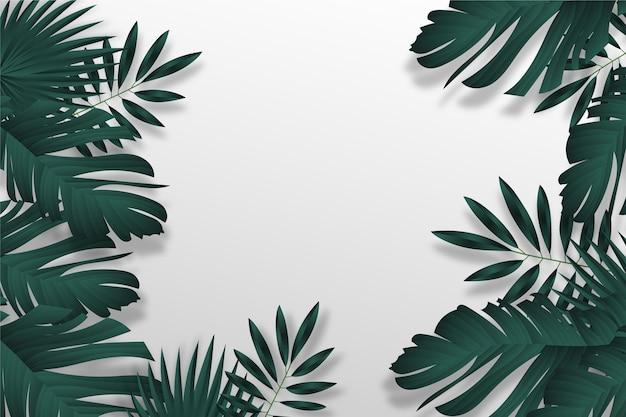 熱帯の葉の壁紙デザイン