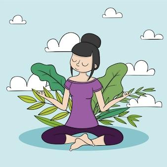 瞑想とリラックスのコンセプト