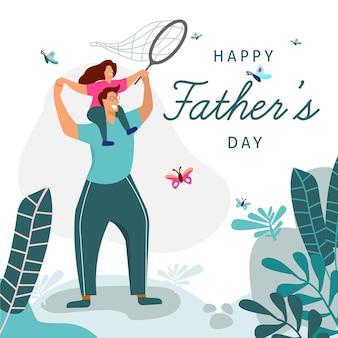 Плоский дизайн иллюстрировал концепцию отцов