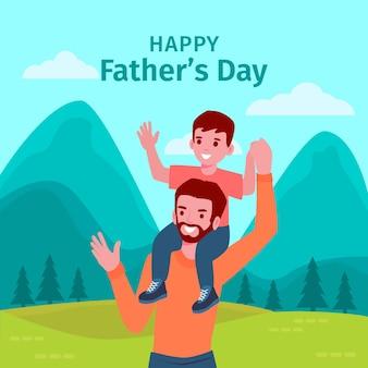 Счастливая концепция день отцов