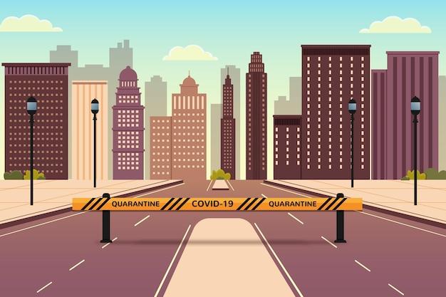 Пустой город из-за пандемии