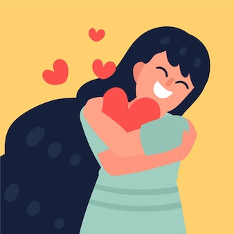 Иллюстрированная концепция любви к себе