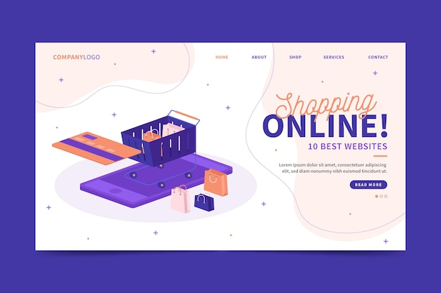 ショッピングランディングページのウェブサイト