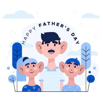 Отец с сыновьями