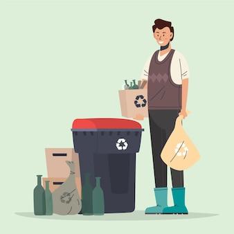 人々のリサイクル