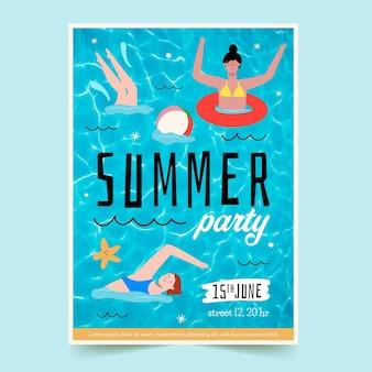 夏のパーティーチラシテンプレート