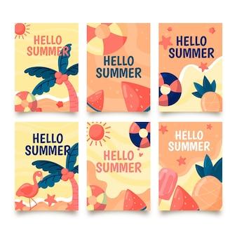 Ручной обращается шаблон летней карты