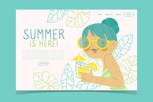 Привет лето веб-шаблон