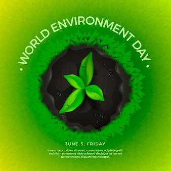 Реалистичный мир окружающей среды день концепция