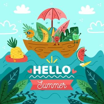 Рисованной привет лето