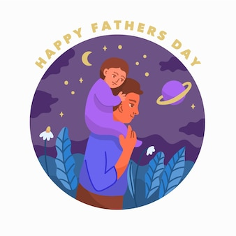 Нарисованная рукой концепция дня отцов