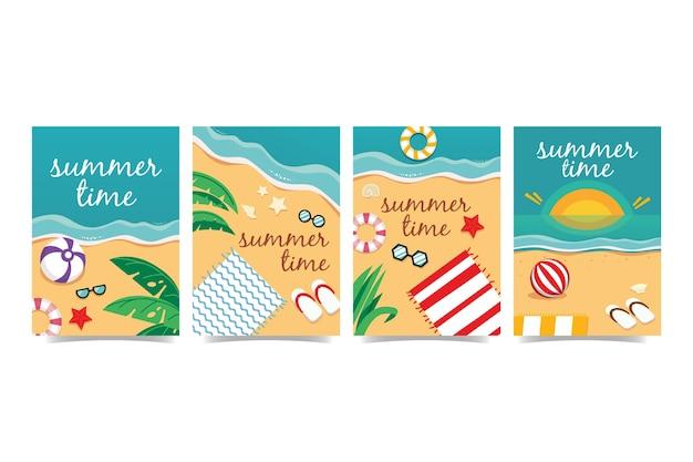 夏のカードコレクションテンプレート