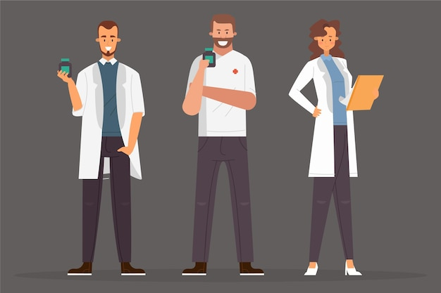 準備ができている薬剤師の人々