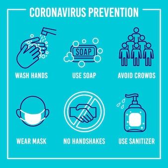 Коронавирусная профилактика инфографики