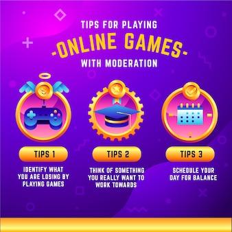 適度にビデオゲームをプレイするためのヒント