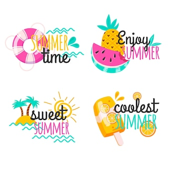 Набор летних этикеток
