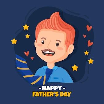 День отца нарисованный рукой