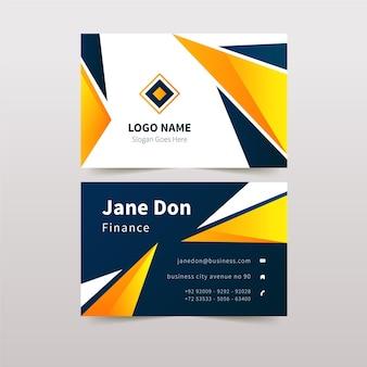Абстрактный дизайн визитной карточки с деталями