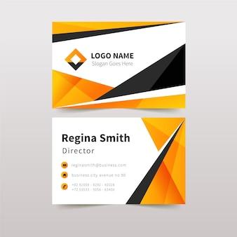Подробный абстрактный шаблон визитной карточки