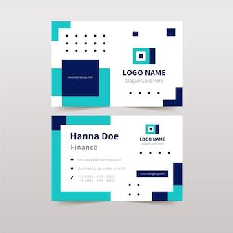 詳細な抽象的な会社カードデザイン