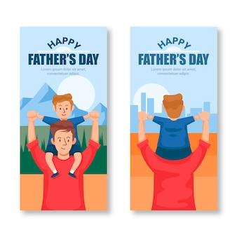 День отца баннеры концепция