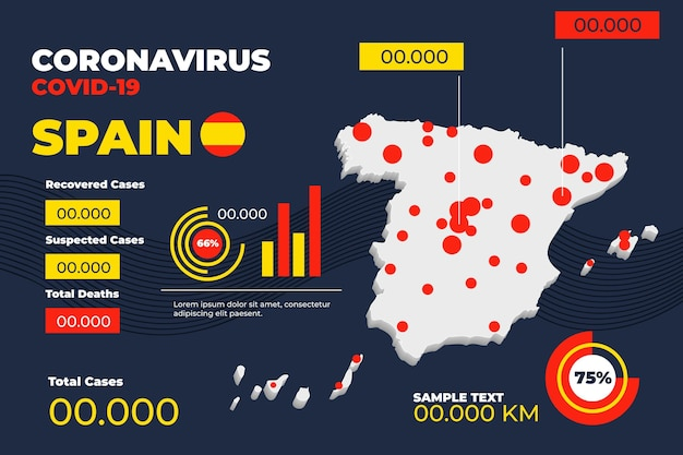 Коронавирус испания карта инфографики